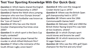 Sporting Pink Quiz 130